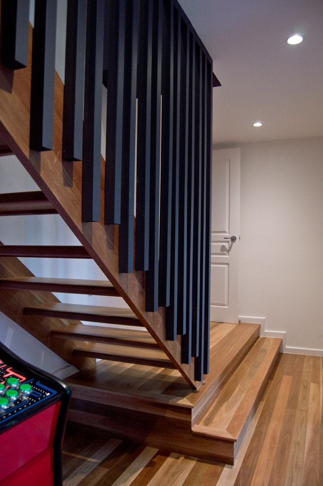 Interior staircase detail designed by Architecture Republic