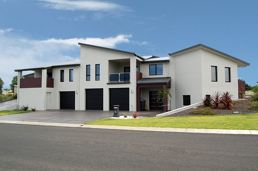 Architecture Republic designed rendered townhouses on a Cooma street