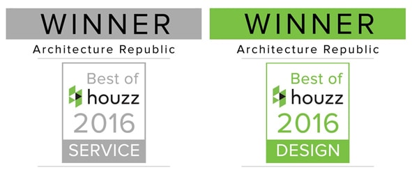 Architecture Republic Best of Houzz 2016 Design and Service awards for the Bowral area.