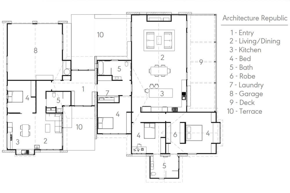 Floor Plan by Architecture Republic, Australia